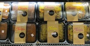 Taste of Ethiopia prepared food at Wholefoods Columbus Circle.