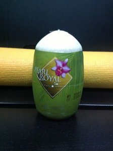A fancy looking mock coconut. Ingredients 100% pure coconut water, although nothing compares to the real deal.