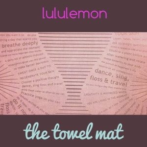 The towel mat at Lululemon