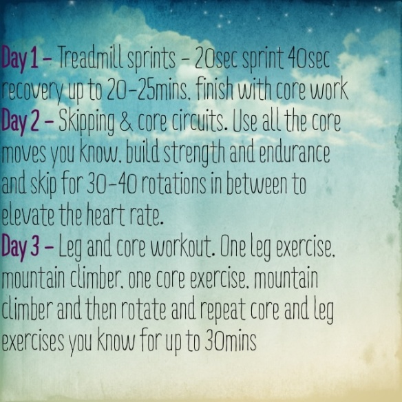 3 Days of Different 30 Minute Workouts Ideas